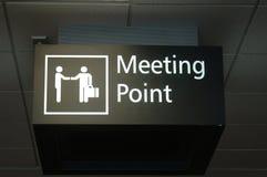 obszar spotkania znak Obrazy Royalty Free