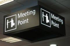 obszar spotkania znak Obrazy Stock