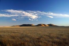Obszar trawiasty i Buttes Nowy Meksyk Zdjęcia Stock