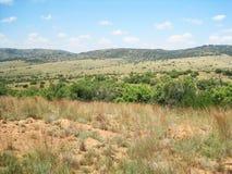 OBSZAR TRAWIASTY I wzgórza W POŁUDNIOWYM afrykanina krajobrazie Obrazy Stock