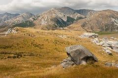 Obszar trawiasty przy Grodowym wzgórzem, Nowa Zelandia Fotografia Royalty Free