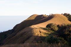 Obszar trawiasty sawanny trekking trasa Obrazy Royalty Free
