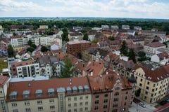Obszaru Zamieszkałego Neu Ulm krajobrazu budynków dzień Obrazy Stock