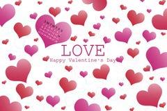 obszyty dzień serc ilustraci s dwa valentine wektor fotografia stock