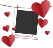 obszyty dzień serc ilustraci s dwa valentine wektor Obraz Stock