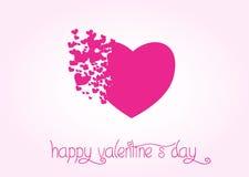 obszyty dzień serc ilustraci s dwa valentine wektor Obrazy Stock