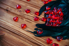 obszyty dzień serc ilustraci s dwa valentine wektor Zdjęcie Stock