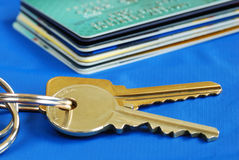 Obtain the credit to buy real estate Stock Image