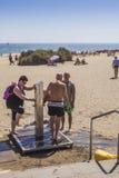 Obtenção livrado da areia Fotos de Stock Royalty Free