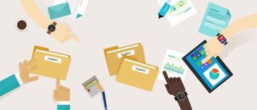 Obtenção que compra o processo da gestão do fornecedor ilustração royalty free