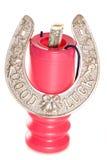 Obtención de fondos de la buena suerte con el dólar americano Imagen de archivo libre de regalías