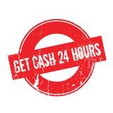 Obtenez à argent liquide 24 heures de tampon en caoutchouc Image libre de droits