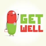 Obtenez bien avec docteur Pill Images stock