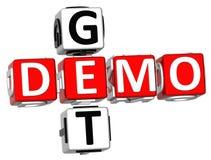 Obtenez Demo Crossword Photos libres de droits