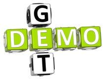 Obtenez Demo Crossword Image stock