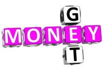 Obtenez l'argent Photographie stock