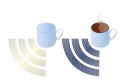 Obtenez le café obtiennent Wifi illustration libre de droits