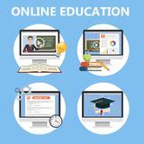 Obtenez le degré en ligne Instruction pour le programme d'enseignement illustration de vecteur