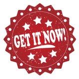 Obtenez-le maintenant ! timbre grunge Image libre de droits