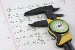 Obtenez une adhérence sur le concept de maths Image libre de droits