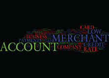 Obtenez votre bas concept de Rate Merchant Account Word Cloud Photos libres de droits