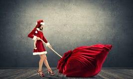 Obtenez votre cadeau de Noël Photographie stock libre de droits