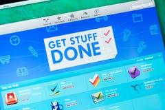Obtenha apps feitos material em App Store Imagens de Stock