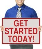 Obtenha começado hoje Fotografia de Stock Royalty Free