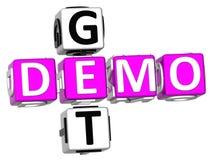Obtenha Demo Crossword Fotos de Stock