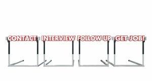 Obtenha a Job Contact Interview Follow Up obstáculos Fotos de Stock Royalty Free