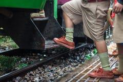 Obtenha no trem Foto de Stock