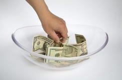 Obtenha o dinheiro Imagem de Stock