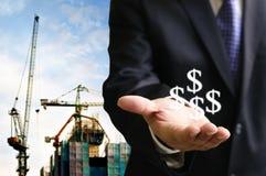 Obtenha o salário da construção industrial Foto de Stock Royalty Free
