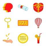 Obtenha os ícones ajustados, estilo da concessão dos desenhos animados Fotografia de Stock Royalty Free