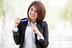Obtenha seu cartão de crédito connosco imagens de stock