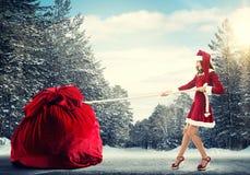 Obtenha seu presente do Natal Fotografia de Stock Royalty Free