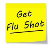 Obtenha a vacina contra a gripe Foto de Stock