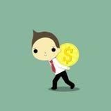 Obtenir dur l'argent illustration stock