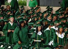 Obtention d'un diplôme d'études secondaires de ressort Photo libre de droits