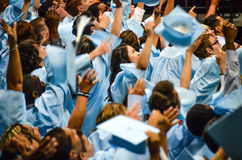 Obtention d'un diplôme d'études secondaires Photographie stock libre de droits