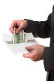 Obtention de l'argent Images stock
