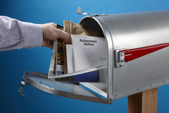 Obtention du courrier images libres de droits