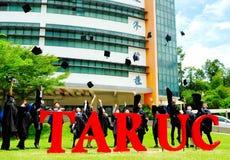 Obtention du diplôme asiatique photo libre de droits