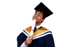 Obtention du diplôme avec le chemin de coupure photographie stock libre de droits