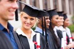 Obtention du diplôme d'université photo libre de droits