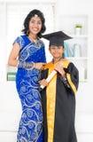 Obtention du diplôme de jardin d'enfants Image stock