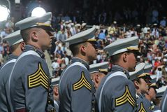 Obtention du diplôme 2015 de West Point images libres de droits