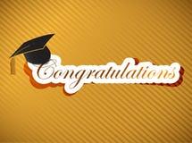 Obtention du diplôme - inscription de félicitations illustration stock
