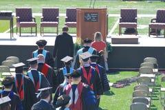 Obtention du diplôme, université de l'Etat du nord-ouest de l'Oklahoma Photo stock