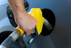 Obtention du gaz ou de l'essence images libres de droits
